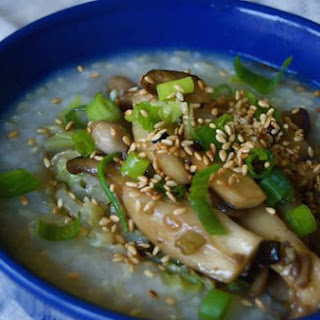 Mushroom & Cabbage Brown Rice Congee
