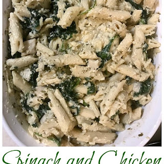 Make Ahead Chicken and Spinach Penne Alfredo.