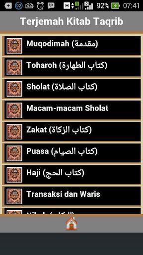 Terjemah Fathul Qorib Lengkap
