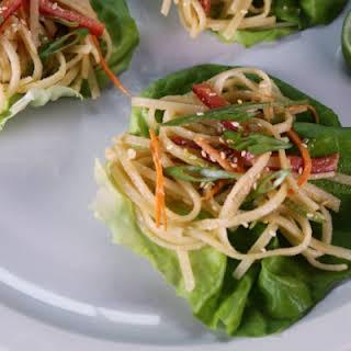 Thai Rice Noodle Wraps.