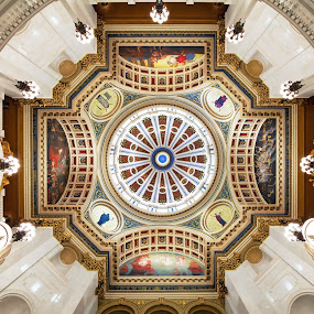 Rotunda in Symmetry by Tim Devine - Buildings & Architecture Public & Historical ( harrisburg, rotunda, pennsylvania, capitol )