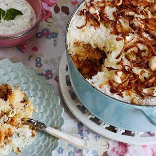 Chicken And Rosewater Biryani.