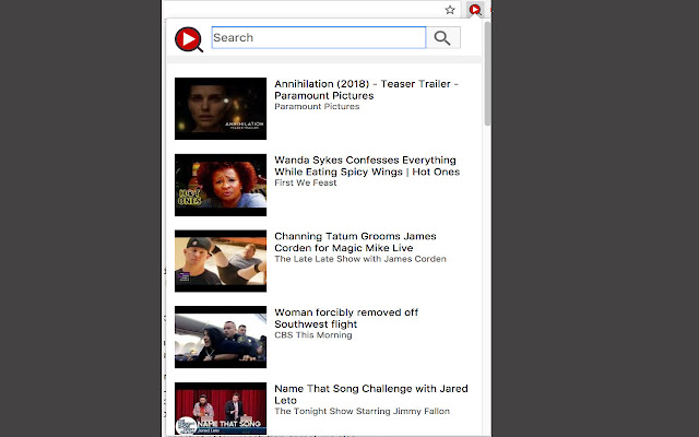 Instant YouTube Video Search