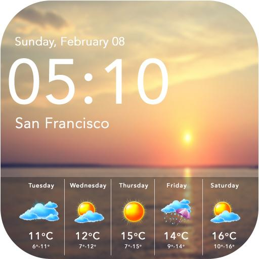 Weather & Clock Android