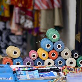 Thread bundles by Shyam Akirala - Artistic Objects Clothing & Accessories ( artistic objects, clothing, thread, colors, cloth )