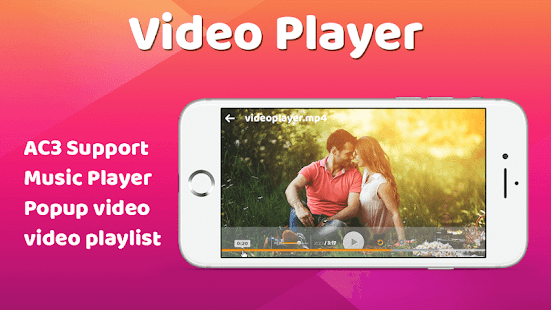 Mp4 video player-Movie player - náhled
