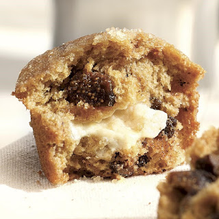 Honey- & Goat Cheese-Filled Fig Muffins.