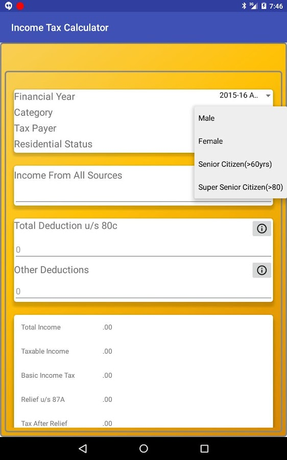 Income Tax Calculator - Android Apps On Google Play