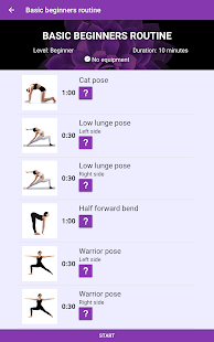 Yoga workout - Free yoga videos and workouts Screenshot