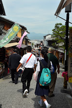 Photo: It's back to the historic streets of Kyoto heading towards the Shinto Memorial to those that lost thier lives in World War 2