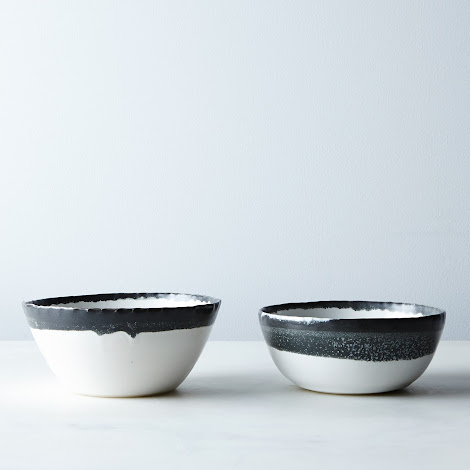 Hand-thrown Charcoal Ice Cream Bowls (Set of 2 or 4)
