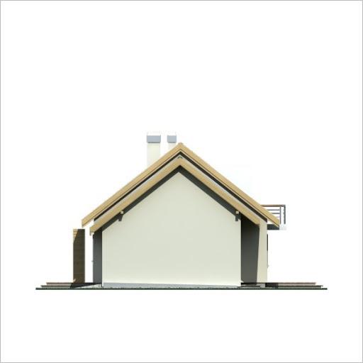 Adaś II wersja C z podwójnym garażem - Elewacja prawa