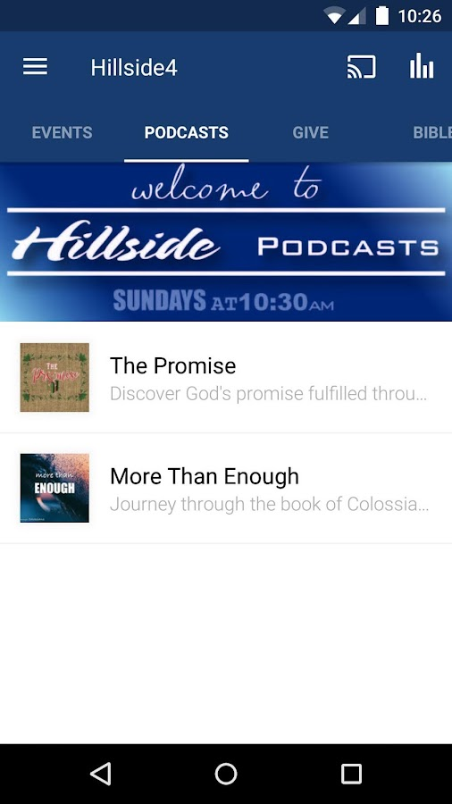Hillside Church - Reno APP- screenshot