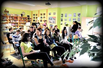 """Photo: Finále 6. ročníku dějepisné soutěže """"O cenu Dominika Haška"""" (školní internetová kavárna, čtvrtek 11. duben 2013)."""