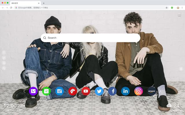 Paramore New Tabs HD Bands Top Themes