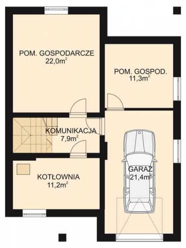 APS 007 - Rzut piwnicy