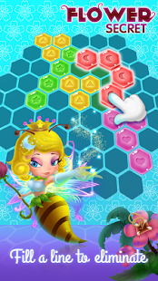 Flower Secret - Hexa Block Puzzle & Crush - náhled