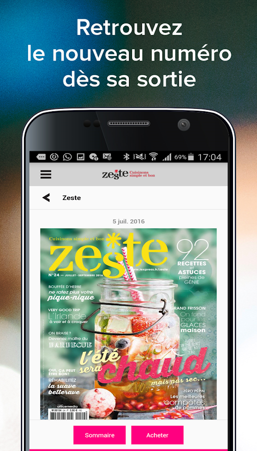 Zeste - Magazine- screenshot