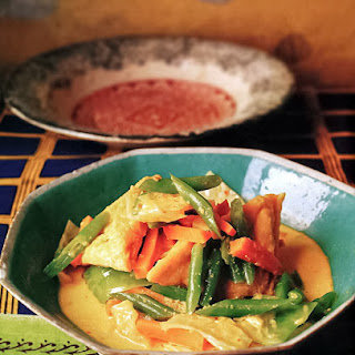 Tofu and Summer Vegetables in Coconut Milk