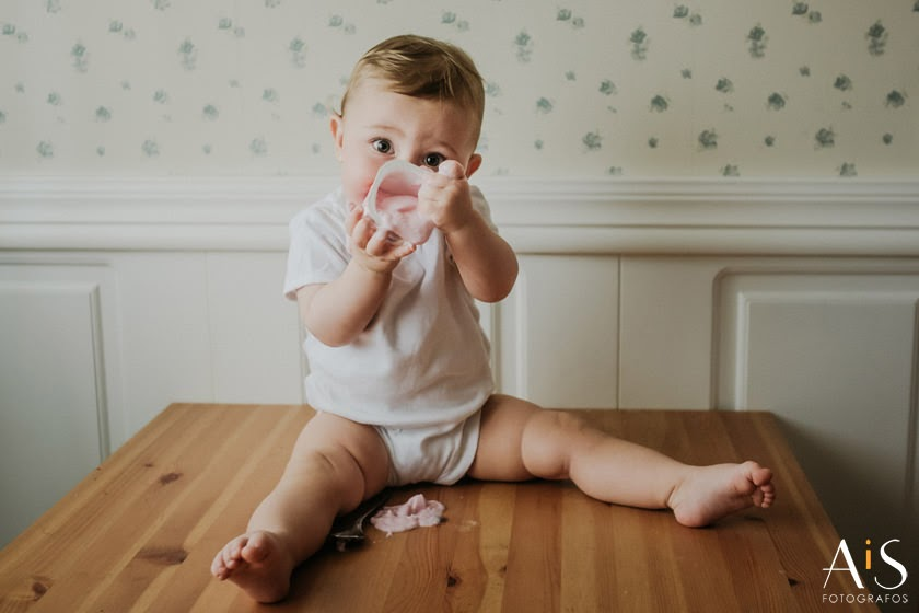 Reportaje de bebé en casa