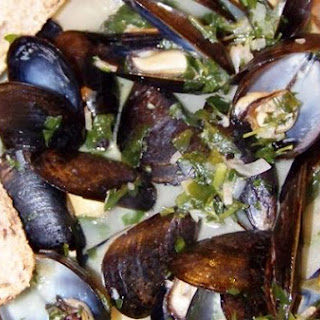 Classic French Mussels Done Light