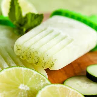Cucumber Lime Mint Popsicles.