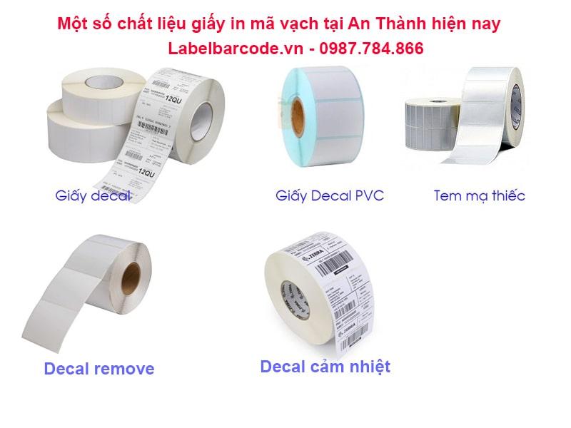 Đa dajgn chất liệu cho giấy in mã vạch 1 tem dạng cuộn chĩnh hãng tại An Thành