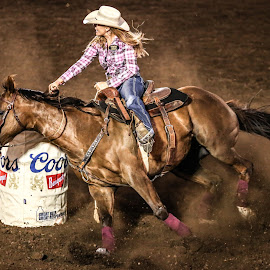 Barreling by Justin Quinn - Sports & Fitness Rodeo/Bull Riding ( volleyball football, eugene pro rodeo 2016 )