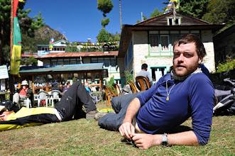 Photo: モンジョ集落でランチ休憩