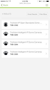 TruVision IP Camera Selector- screenshot thumbnail