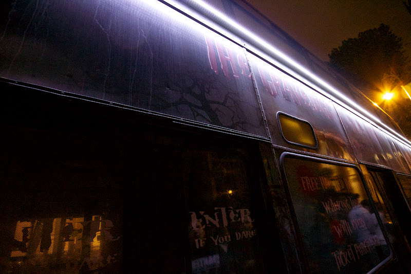 Photo: Our carriage for the Gravediggers Ghost Tour