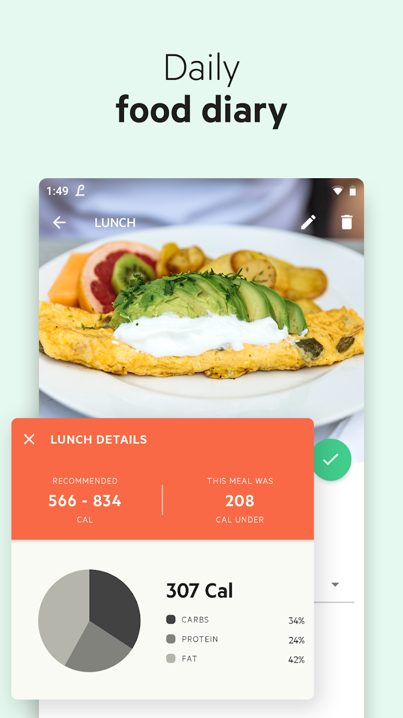Lifesum - Diet Plan, Macro Calculator & Food Diary Screenshot 7