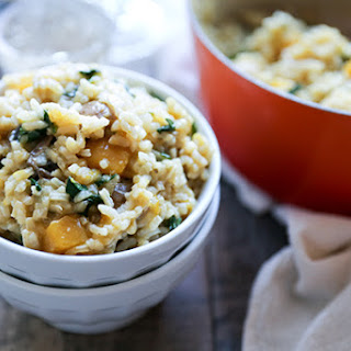 Baked Butternut Squash and Champagne Risotto Recipe