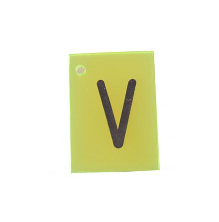 Märkskylt till röntgen plast V