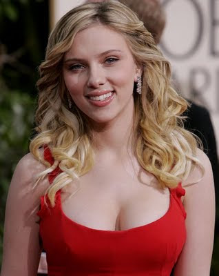 Scarlett Johansson hot in red