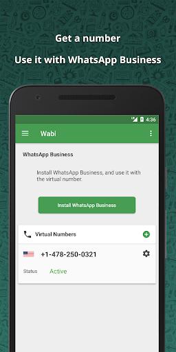 Wabi - Virtual Number for WhatsApp Business 1.8.8 screenshots 1
