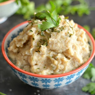 Roasted Garlic Cauliflower Mash.