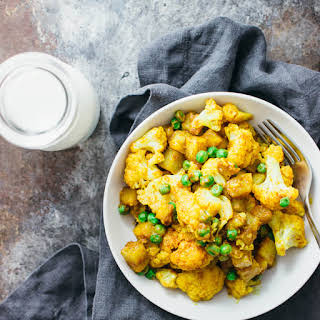 Golden Cauliflower Curry With Potatoes.