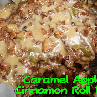 Caramel Apple Cinnamon Roll Pie (Dutch Oven)