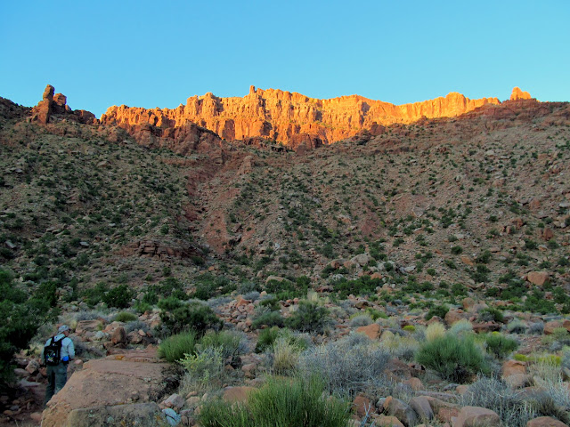 Early morning light on the cliffs above Hidden Valley