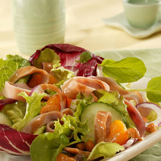 Ham Salad with Hot Peanut Dressing.