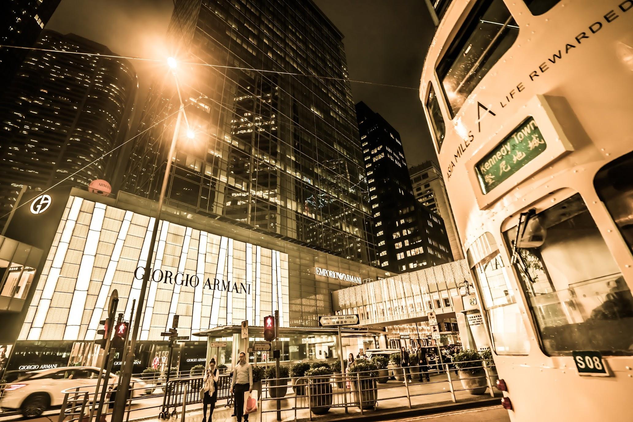 Hong Kong tram Night view