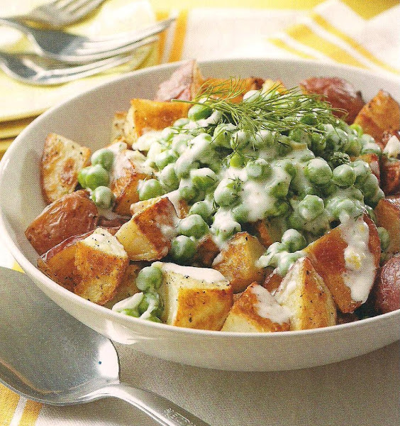 Roasted Potatoes With Creamed Peas Recipe