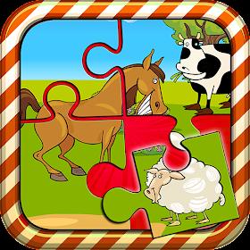 Пазл животные на ферме