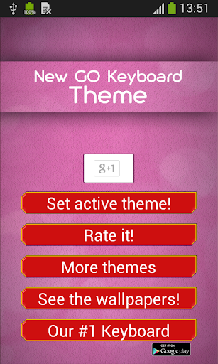 New GO Keyboard Theme