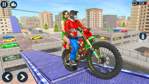 Extreme Rooftop Bike Rider Sim : Bike Games apkmr screenshots 1