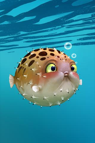 Скриншот Blowfish - Live Wallpaper