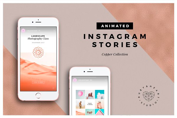 Animated Instagram Stories Template Pack by Copper Stories