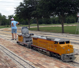 Photo: Donna Greene brought the UP 9449 out for Pete Greene to pull passenger trains.    HALS 2009-0919