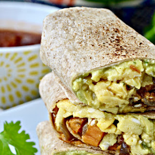 Ultimate Breakfast Burritos with Sweet Potato Hash.